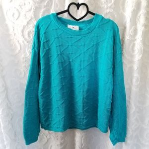 Worthington Essentials Teal Blue Sweater
